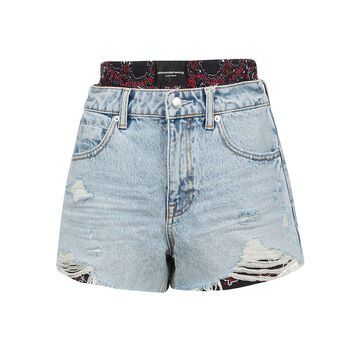 T by Alexander Wang Distressed Shorts