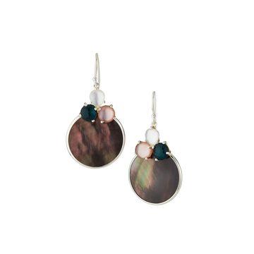 Wonderland Overlapping Shell & 3-Stone Earrings in Moroccan Dusk