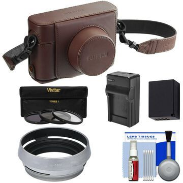 Fujifilm LC-X100F Leather Camera Case for Fujifilm X100F Digital Camera Brown