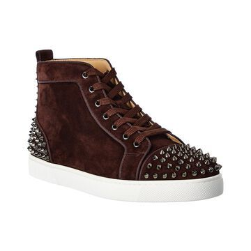 Christian Louboutin Lou Spikes 2 Suede Sneaker