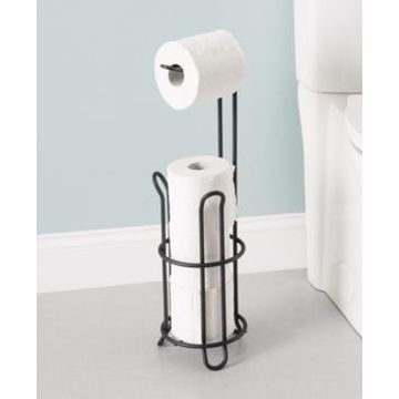 Home Basics Onyx Toilet Paper Holder Bedding