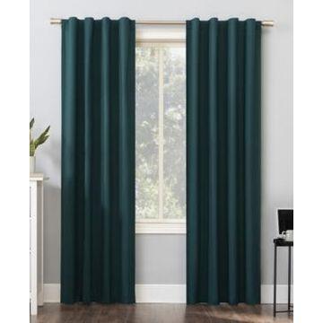 Sun Zero Cyrus Thermal Blackout Back Tab Curtain Panel, 40