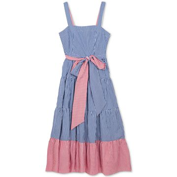 Big Girls Striped Cotton Maxi Dress