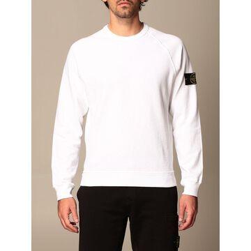 Stone Island Crewneck Sweatshirt In Garment-dyed Malfileacute; Cotton