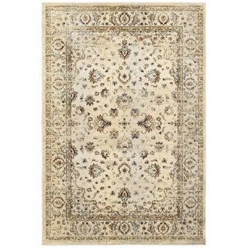 Style Haven Arabesque Traditions Ivory/Gold Polypropylene Area Rug (9'10 x 12'10) - 9'10