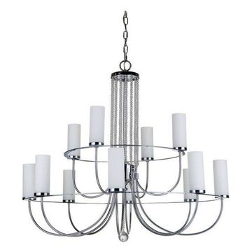 Jeremiah Lighting 40612 Cascade 12-Light Pillar Candle Chandelier