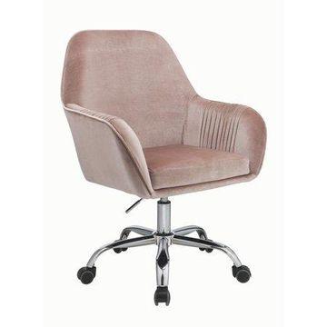 ACME Eimet Office Chair in Dusky Rose Velvet