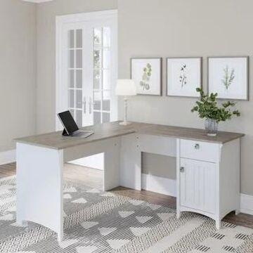 Salinas L-shaped Storage Desk by Bush Furniture