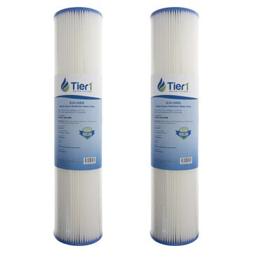Tier1 R30-20BB 30 Micron 20 x 4.5 Pleated Polyester Sediment Pentek R30-20BB Comparable Replacement Water Filter 2-Pack