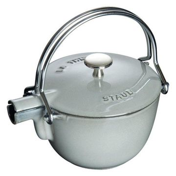 Staub Cast Iron 1-qt Round Tea Kettle - Graphite Grey