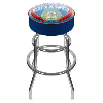 Trademark Gameroom Bar Stools Chrome Bar height (27-in to 35-in) Upholstered Swivel Bar Stool | USCG1000