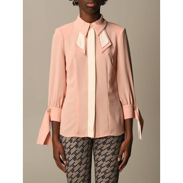 Two-tone Elisabetta Franchi Shirt With Bow