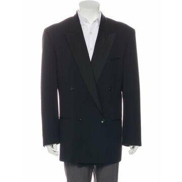 Wool Double-Breasted Blazer black