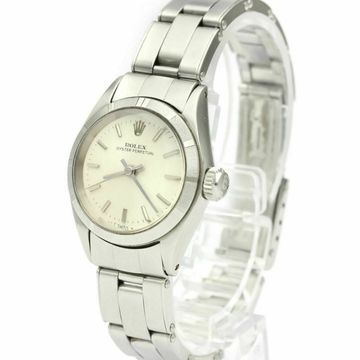 Vintage Rolex Lady Oyster Perpetual 24mm Silver Steel Watches