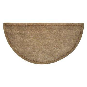 Uniflame Beige Hand, Tufted 100% Wool Hearth Rug