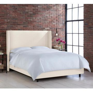 Skyline Furniture Wingback Bed in Linen