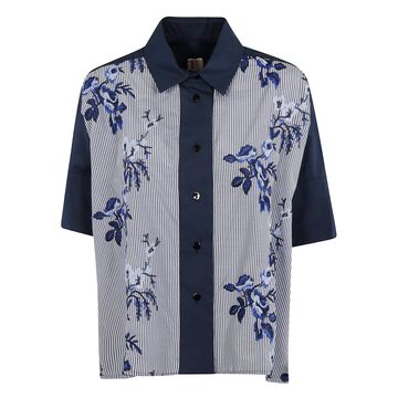 Antonio Marras Embroidered Floral Detail Cropped Shirt