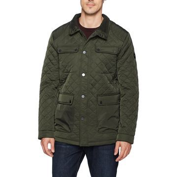 Bernardo Green Mens 2XL Jon Water Resistant Quilted Field Jacket