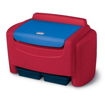 Little Tikes Sort 'N Store Kids Toy Storage Chest, Red and Blue