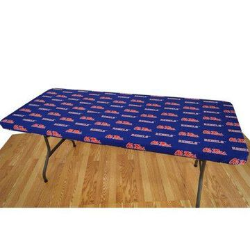 College Covers Fan Shop Mississippi Rebels 6' Fitted Table Cover - 72 x 30 in