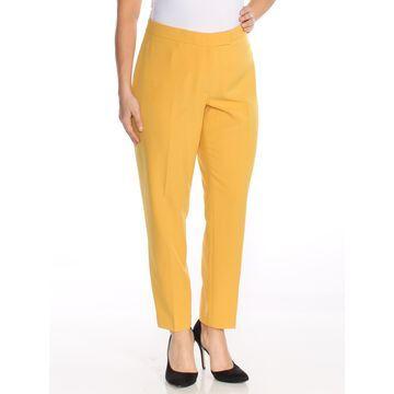 ANNE KLEIN Womens Yellow Slim Fit Pants Size: 14