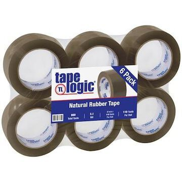 Tape Logic #53 PVC Natural Rubber Tape, 2.1 Mil, 2 x 110 yds, Tan, 6/Case | Quill