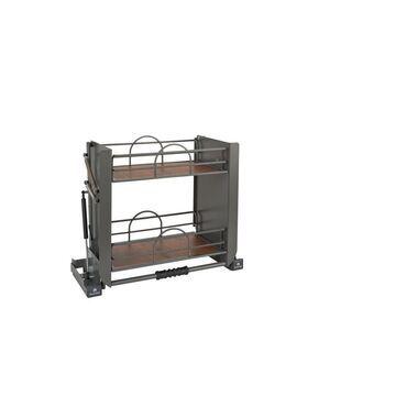 Rev-A-Shelf 22.25-in W x 18.375-in H 2-Tier Pull Down Metal Baskets & Organizers