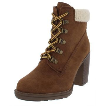 Esprit Womens Hero Faux Leather Sweater Booties