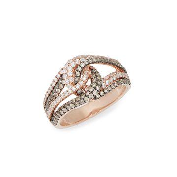Le Vian Chocolatier 14K Strawberry Gold Chocolate Diamonds & Vanilla Diamonds Ring