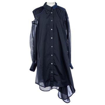 Sacai Black Polyester Dresses
