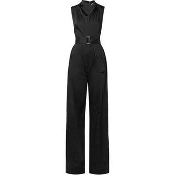 Victoria Beckham Belted Cady Jumpsuit