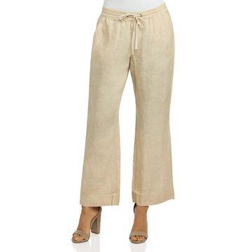 Foxcroft Womens Shore Chambray Drawstring Linen Pants
