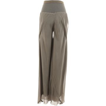 Rick Owens Grey Silk Trousers