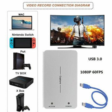 USB 3.0 HD 1080P HDMI Video Capture Box Dongle Game Live Recording Recorder MY