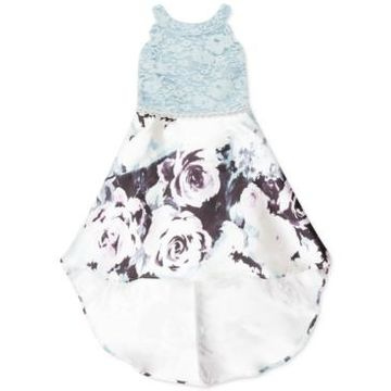 Speechless Toddler Girls Lace & Floral-Print High-Low Dress