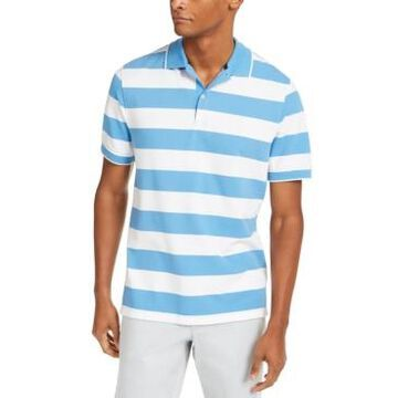 Club Room Men's Performance Stretch Striped Polo Shirt, Created for Macy's