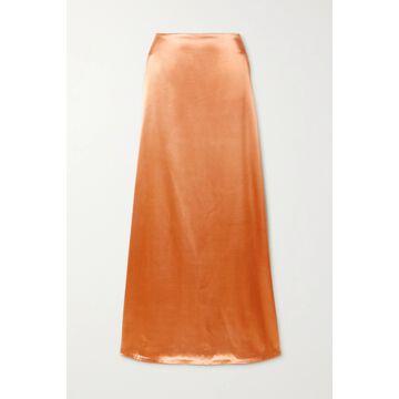 Jil Sander - Satin Maxi Skirt - Orange