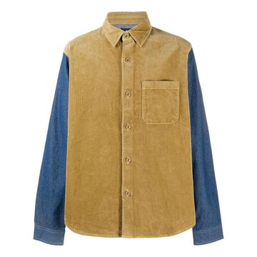 panelled corduroy shirt