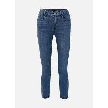 3x1 - Luna Mini Split High-rise Slim-leg Jeans - Mid denim