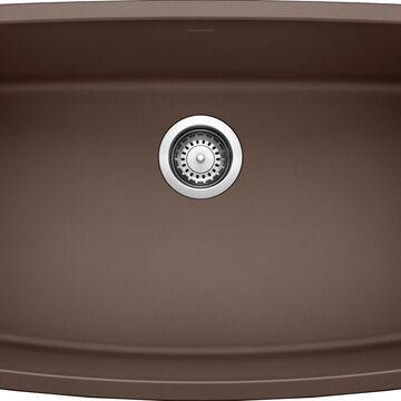 BLANCO Valea Undermount 32-in x 19-in Cafe Brown Single Bowl Kitchen Sink   441613