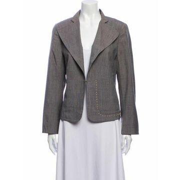 Silk Blazer Grey