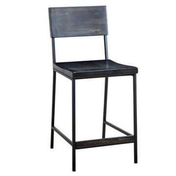 INK+IVY Tacoma 38.75-Inch Bar Stool in Black