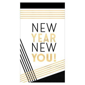 Amscan New Year New You Guest Towels