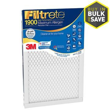 Filtrete 25-in x 25-in x 1-in 1900 MPR Premium Allergen, Bacteria and Virus Electrostatic Pleated Air Filter