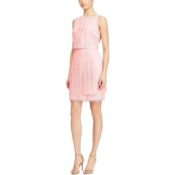 American Living Womens Lace Popover Sheath Dress
