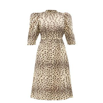 Sea - Leo Leopard-print Cotton Dress - Womens - Leopard