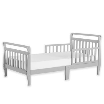 Dream On Me Sleigh Toddler Bed in Grey