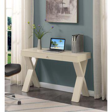 Convenience Concepts Newport 1 Drawer Desk, Beige