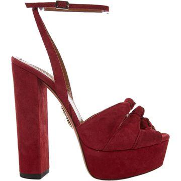 Aquazzura Red Suede Heels