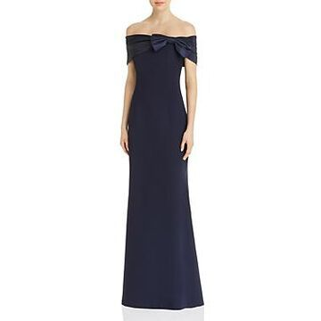 Eliza J Off-The-Shoulder Bow Gown